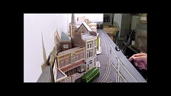 Pointsman duty at Black Cat Junction (kingsway john) Tags: london transport tram tramway 176 scale oo gauge layout model diorama e1 points kingsway models card building kits