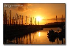 Brest, port de Commerce 2018 - Coucher de soleil sur la Marina du Chateau (porte-plume) Tags: brest port