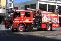 1991 Scania P93 ex-Fire Truck (CooverInAus) Tags: fire truck retired scania p93 surfers paradise gold coast queensland australia engine pumper