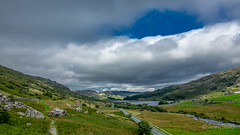 Towards Capel Curig (JKmedia) Tags: welsh landscape northwales snowdonia snowdonianationalpark countryside clouds sky green mountains boultonphotography 2018 sonyrx10iii dramatic scenery weather llynnaumymbyr capelcurig road route a4086 car vehicle