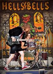 Hells Bells.. (Harleynik Rides Again.) Tags: tribute act hellsbells acdc gibson makingmusic calnebikemeet harleynikridesagain