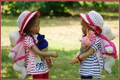 Milina und Sanrike ... (Kindergartenkinder 2018) Tags: kindergartenkinder annette himstedt dolls milina sanrike