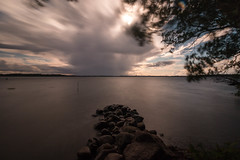 Schweriner See (wegistdasziel) Tags: mecklenburgvorpommern wasser langzeitbelichtung deutschland orte schwerinersee schwerin wolken