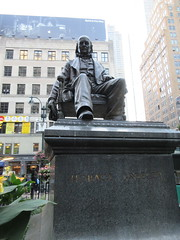 Horace Greeley Statue in Greeley Square Park NYC 9994 (Brechtbug) Tags: horace greeley seated statue 02031811 11291872 american editor leading newspaper founder republican party reformer politician his new york tribune was most influential from 1840 1870 besides having creepy neck beard used it promote whig parties square park manhattan near macys herald midtown nyc 2018 city 09032018