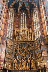 St. Mary's Basilica, Kraków (spipra) Tags: krakow poland church interior