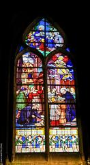 Les vitraux de Saint-Séverin (Paris) (L'Abominable Homme de Rires) Tags: eglise saintseverin vitraux paris church gothique canon5d 5dmkiii dxo photolab lightroom sigma 24105mmf4 bazaine stainedglass quartierlatin eglisesaintséverin