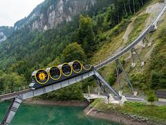 Standseilbahn Stoos (oonaolivia) Tags: stoos schwyz schweiz switzerland standseilbahn funicular bahn train railway cablecar