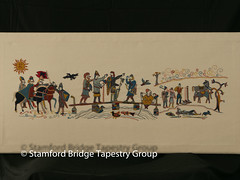 Panel 5 (Stamford Bridge Tapestry Project) Tags: tapestry stamfordbridge battleofstamfordbridge 1066 embroidery