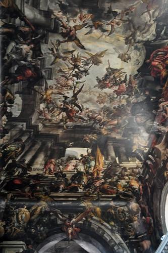 Martyre et Triomphe de St Pantaléon, 1684-1704, Gian Antonio Fumiani (1695-1710), église St Pantaléon (XIe), contrade San Patalon, sestiere Dordsoduro, Venise, Vénétie, Italie.