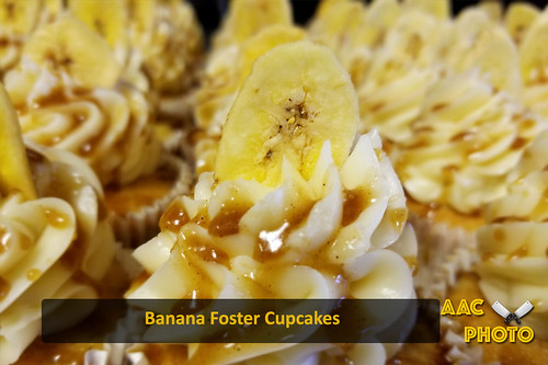 "Banana Foster Cupcakes • <a style=""font-size:0.8em;"" href=""http://www.flickr.com/photos/159796538@N03/44644099271/"" target=""_blank"">View on Flickr</a>"