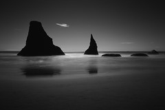 the sea guardians (Lamson/Ng) Tags: rocks sea ocean le lamson bandon oregon monochrome bw blackandwhite guardians