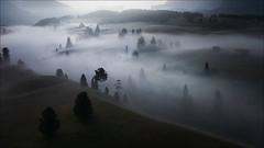 [ ... the misty valley ] (D-P Photography) Tags: landscape landschaft dolomites dolomiten alps alpi di suisi seiser alm sunrise sun mist fog nature valley drone aerial dji mavic pro dennis polkläser dp photography