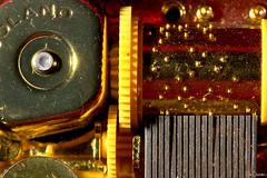 Music Box (iecharleton) Tags: macromondays cogwheel macro machinery music italian box closeup bumpy musicbox delicate texture metal windup