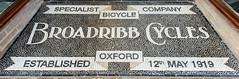 Broadribb Cycles (R~P~M) Tags: shop bicester oxon oxfordshire tile mosaic sign england uk unitedkingdom greatbritain