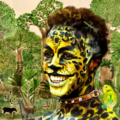 Yamqui el Puma (COLINA PACO) Tags: cougar puma chico boy ragazzo retrato ritratto portrait franciscocolina fotomanipulación fotomontaje photoshop photomanipulation selva jungle giungla