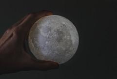 The moon is mine. (Pablin79) Tags: moon hand toy light indoors macro closeup posadas misiones argentina 3dprint nightlight shadows dark ornament fingers me catch