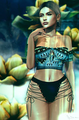 When I first saw you I was deep in clear blue water (Neva Valon) Tags: lyrium misschelsea chelsea underwater entwined bowtique sea ocean water reflection maitreya avatar bento pose poses portrait virtual blog blogger lotd female woman lazile glow