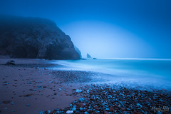 Blue Mood (Miguel Rita) Tags: praia backgrounds beach coastline dawn environment horizontal nature nopeople outdoors photography sea seascape sunset vacations weather portugal sintra colares