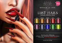 *Queen oF Ink [Lust Nails] Astralia Stiletto Nails Applier @DUBAI (MonaSax95 | Queen oF Ink) Tags: new news nails applier vendor photo pic shot picture creative queenofink secondlife sl beauty beautiful fashion style moda glamour event exclusive polish