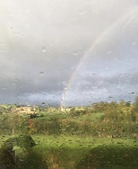 See the good through the bad (akerrzz) Tags: rain rainbow sun bluesky trees country clouds ireland codown rural rurallife