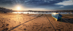Low tide on the Beach (dieLeuchtturms) Tags: gezeiten panorama hughtown england meer europa 21x9 sonnenuntergang hafen scillyisles strand stmary cornwall grosbritannien ebbe 235x100 7x3 europe greatbritain harbour beach lowtide sea sunset tides vereinigteskönigreich gb