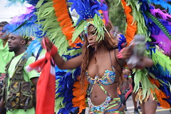 DSC_8580 Notting Hill Caribbean Carnival London Exotic Colourful Costume with Blue Green orange and Purple Feather Headdress Girls Dancing Showgirl Performers Aug 27 2018 Stunning Ladies (photographer695) Tags: notting hill caribbean carnival london exotic colourful costume girls dancing showgirl performers aug 27 2018 stunning ladies with blue green orange purple feather headdress