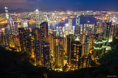 香港 / 山頂 / THE PEAK / 太平山 / 美麗的夜景 (Chester photography .) Tags: 香港 hong kong city peak