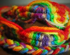 MM 20 August 2018: Friendship Rainbow (jefalump) Tags: macromondays multicolor friendship bracelet macro rainbow