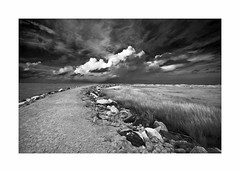 Rodanthe, OBX (Joe Franklin Photography) Tags: rodanthe obx outerbanks northcarolina nc barrierislands blackandwhite bw beach clouds ocean almostanything joefranklin wwwjoefranklinphotographycom