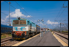 Rail Traction Company 753 733, Verona 9-9-2017 (Henk Zwoferink) Tags: verona veneto italië it henk zwoferink rtc lokomotion autoslaaptrein railexperts rxp euro express ee railtractioncompany 753 733 duikbril
