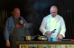 Chef Scott Bannon and Great British Bake Off's Luis Troyano at Bolton Food Festival 2018 (Tony Worrall) Tags: bolton food festival 2018 boltonfoodfestival2018 foodfestival event show fun eat taste annual foodie town visit gmr cook cooking demo make men couple update place location uk england north area attraction open stream tour country item greatbritain britain english british gb capture buy stock sell sale outside outdoors caught photo shoot shot picture captured luistroyano