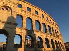Pula (vrrptr) Tags: croatia pula colosseum building sky ancient viaduct architecture blue oldworld sunset