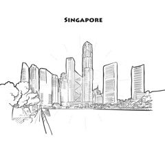 Singapore skyline drawing (Hebstreits) Tags: architecture art artistic asia asian background black building business city cityscape design downtown draw drawing drawn esplanade free hand icon illustration ink isolated landmark landscape line metropolis modern office outline panorama panoramic pen pencil postcard scape sea silhouette singapore sketch skyline skyscraper structure tourism tower travel urban vector view white