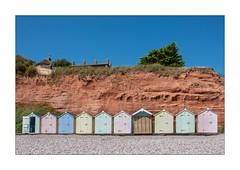 Beach Huts, Budleigh Salterton ... (junepurkiss) Tags: beachhuts pastelcolours budleighsalterton devon
