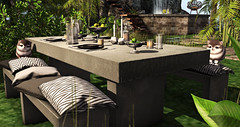 Style1976 (Kayshla Aristocrat) Tags: fancydecor uber halfdeer outdoordecoration outdoorgarden outdoorfurniture furniture homeanddecorations deco decor pets slliving