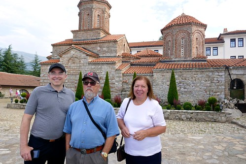 Alex, Ali & Marija at the Monastery of St. Naum, Macedonia