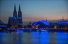 KÖLN (softlight2) Tags: motive köln dom musicaltheater rhein blauestunde langzeitbelichtung