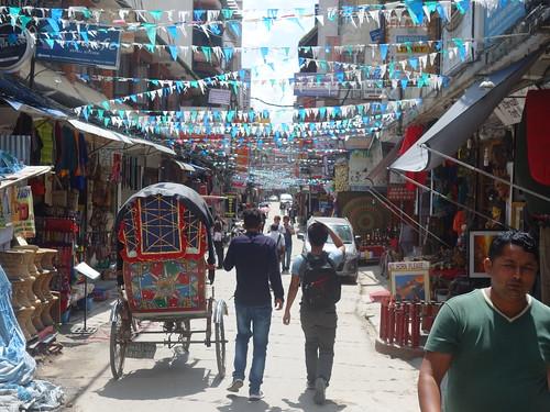 Le quartier de Thamel, c'est le lieu touristique de Kathmandu.