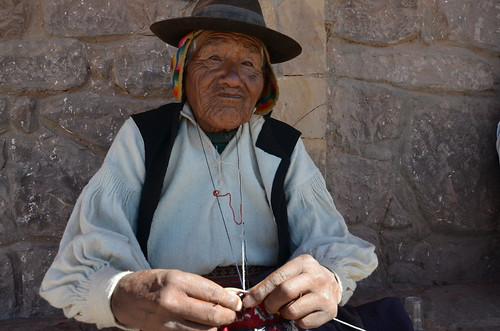 On Taquile the men do the knitting, Lake Titicaca