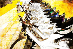 bikes (j.p.yef) Tags: peterfey jpyef yef digitalart photomanipulation bicycles bikes street germany hamburg abstract abstrakt elitegalleryaoi bestcapturesaoi