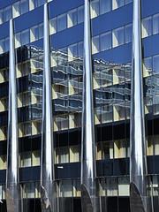Tallink City Hotel (RobertLx) Tags: city building facade glass reflection window vertical steel tallinn modern contemporary europe baltic tallinkcityhotel hotel tallink architecture blue estonia eesti