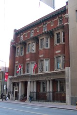 Toronto Ontario - Canada - The National Club - Heritage Building (Onasill ~ Bill Badzo - 54M View - Thank You) Tags: toronto on ont ontario canada 330 baystreet nationalclub members 1906 globeandmail architect s george curry heritage historic financial district diningroom private lounge patio rooftop sic rooms hotel style red brick georgian architecture path door entrance society art wine cellar stained glass tiffany onasill kodakcamera 256