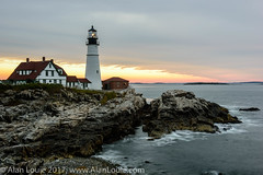 20180908 Portland Head Lighthouse016.jpg (Alan Louie - www.alanlouie.com) Tags: landscape beach sunrise maine portland usnewengland capeelizabeth unitedstates us