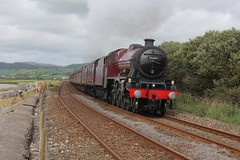 BR Stanier Jubilee 6P5F No. 45699 'Galatea' hauls Steam Dreams 'The Cathedral Express' past Kirkby in Furness with 1Z87 Carlisle to Carnforth rail tour on 15th September 2018 © (steamdriver12) Tags: br jubilee 6p5f no 45699 galatea hauls steam dream the cathedral express kirkby furness 1z87 carlisle carnforth rail tour 15th september 2018 cumbria coast coal smoke oil preservation heritage england