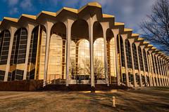 golden hour at oru (fallsroad) Tags: oru oralrobertsuniversity school campus architecture building windows glass reflections