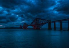 Forth Rail bridge. (xDigital-Dreamsx) Tags: landmark bridge scotland scenery scottish river forth clouds sky atmosphere silhouette weather blue shadows mood night nightphotography