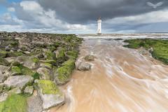 Perch Rock Lighthouse (Andy Davis Photography) Tags: perchrocklighthouse lighthouse waves tide wirral sea rocks canon ocean water sky bay landscape risingtide