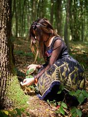 Lolita in the woods (xBadFox) Tags: girl woman cute lolita sweetlolita dress nature forest tree trees lumix lumixgx8 leica