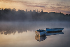 Reflections (jasty78) Tags: loch mist fog reflections boat boats still peaceful beautiful lochrusky callander stirling scotland nikond7200 sigma350mmf14 sunrise glow