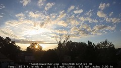 September 6, 2018 - A nice looking end to the day. (ThorntonWeather.com)